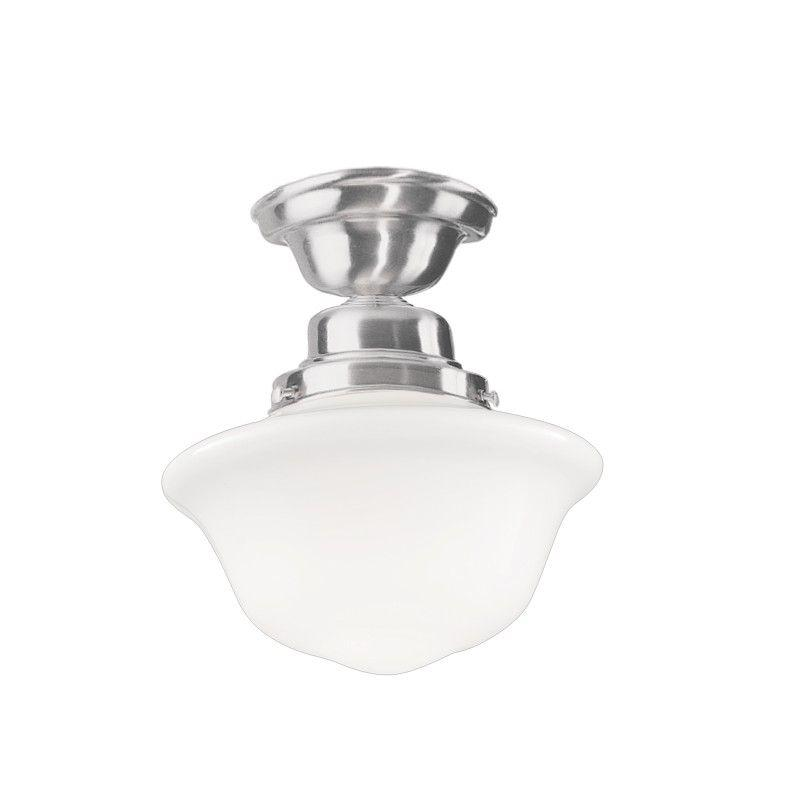 Hudson Valley 1609F-SN EDISON COLLECTION 1 LIGHT SEMI FLUSH Satin Nickel