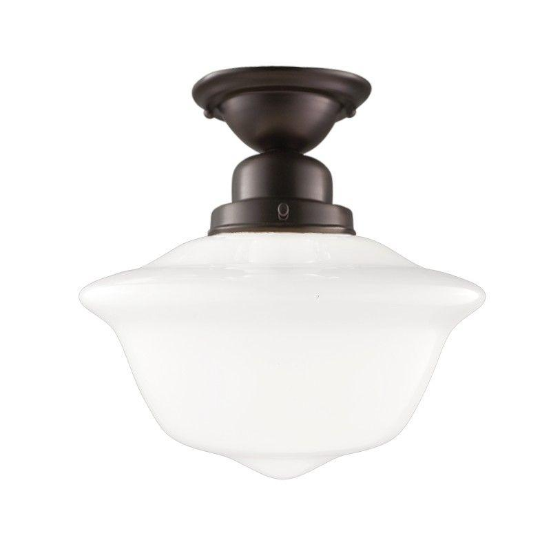 Hudson Valley 1612F-OB EDISON COLLECTION 1 LIGHT SEMI FLUSH Old Bronze
