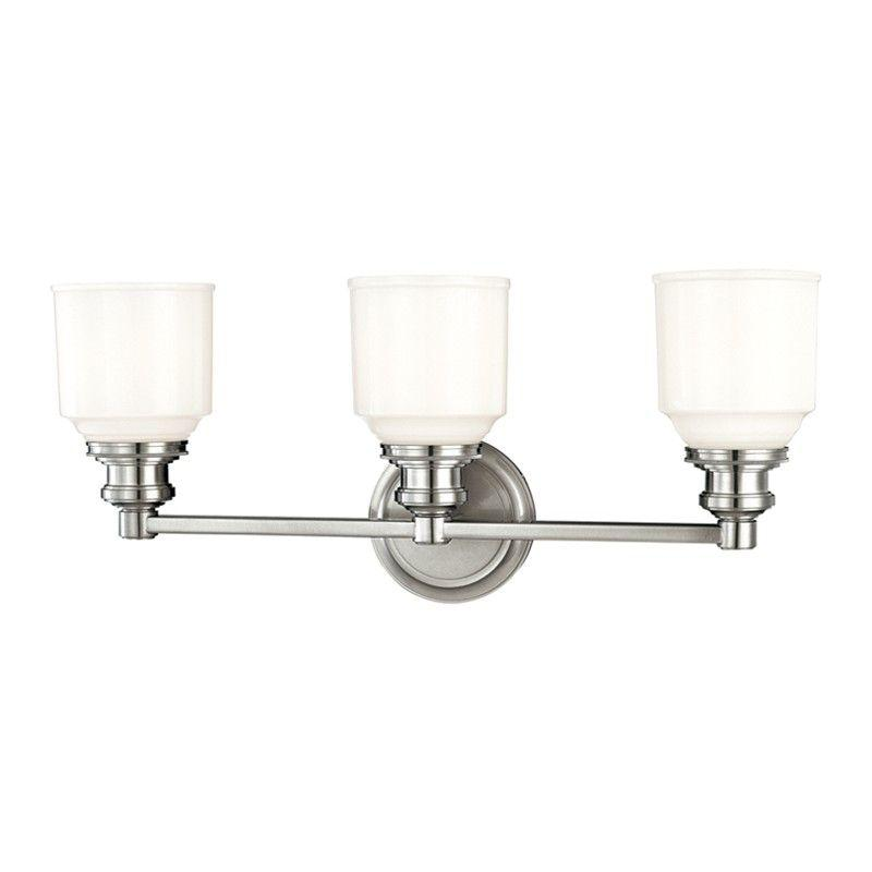 Hudson Valley 3403-PN WINDHAM 3 LIGHT BATH BRACKET Polished Nickel