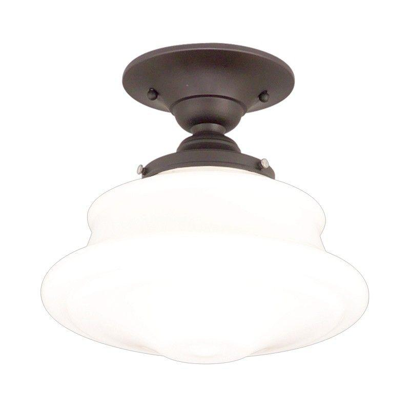 Hudson Valley 3416F-OB PETERSBURG 1 LIGHT SEMI FLUSH Old Bronze