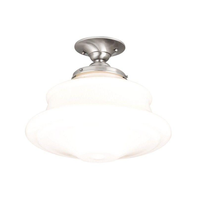 Hudson Valley 3416F-SN PETERSBURG 1 LIGHT SEMI FLUSH Satin Nickel