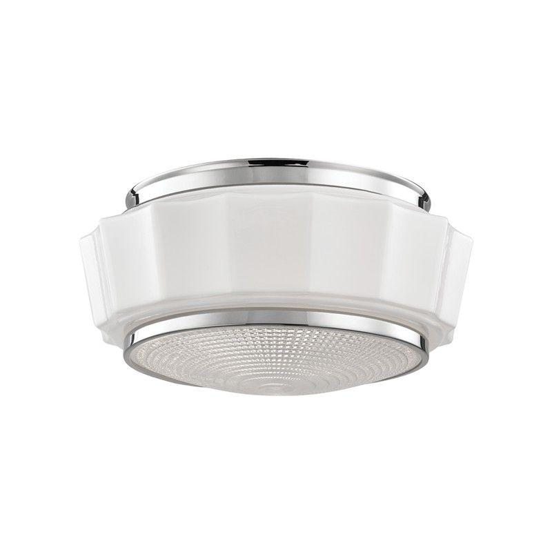 Hudson Valley 3814F-PN ODESSA 2 LIGHT FLUSH MOUNT Polished Nickel