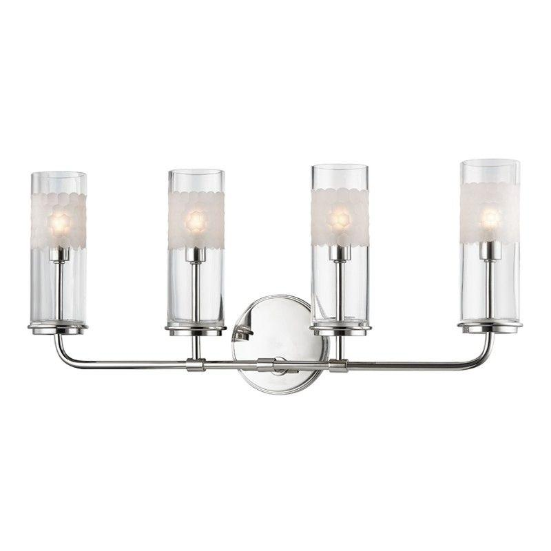 Hudson Valley 3904-PN WENTWORTH 4 LIGHT WALL SCONCE Polished Nickel