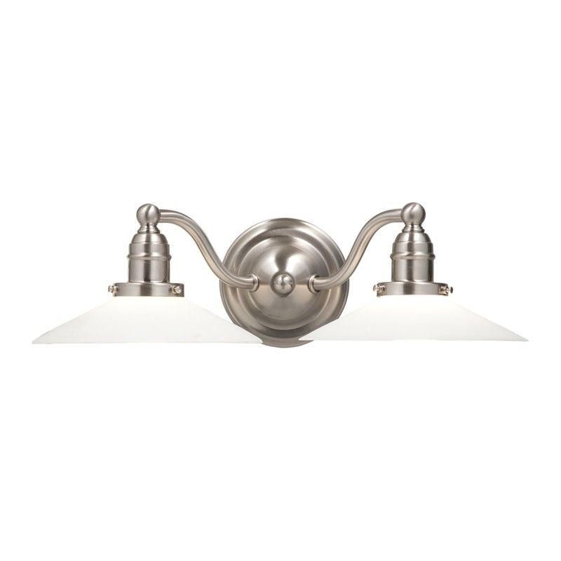 Hudson Valley 3912-SN HADLEY 2 LIGHT BATH BRACKET Satin Nickel