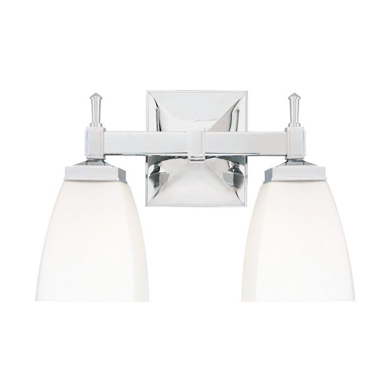 Hudson Valley 652-PC KENT 2 LIGHT BATH BRACKET Polished Chrome