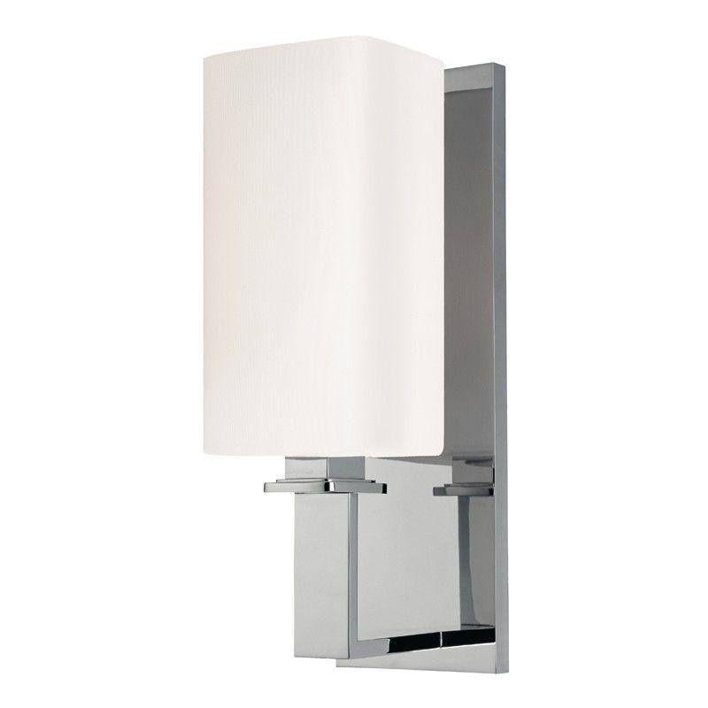 Hudson Valley 721-PN BALDWIN 1 LIGHT WALL SCONCE Polished Nickel