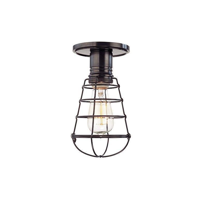 Hudson Valley 8100-OB-WG HEIRLOOM 1 LIGHT SEMI FLUSH Old Bronze