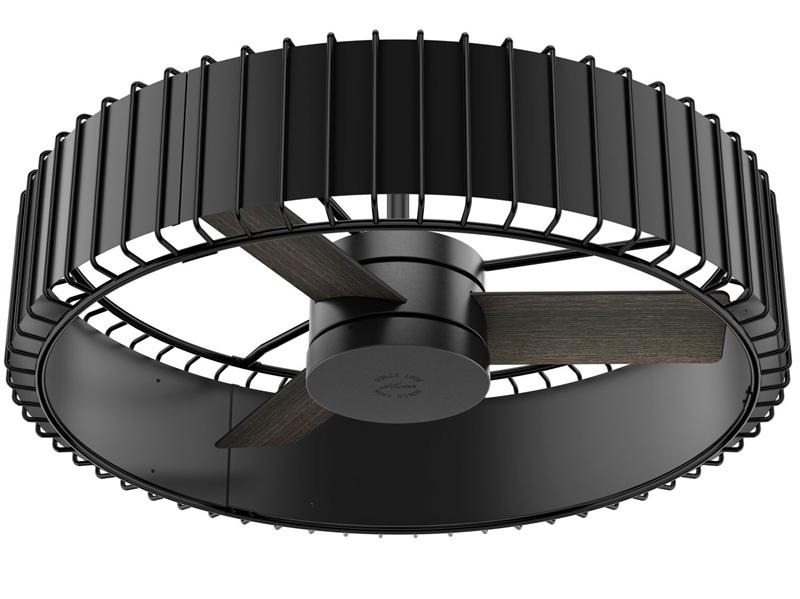"Hunter 59255 Vault 30"" Ceiling Fan w/ Remote - Matte Black and Gloss Black"