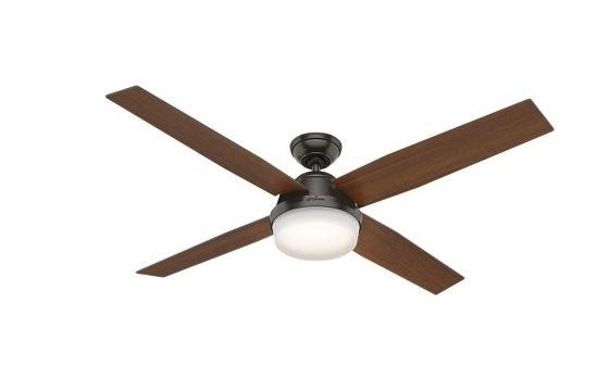 "Hunter 59443 Dempsey Collection - 60"" with Integrated Light, Noble Bronze"