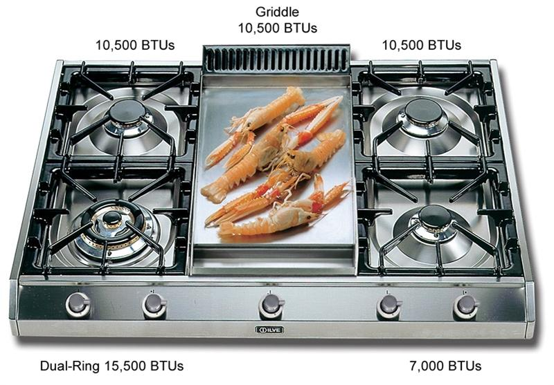 "ILVE UHP965FD Gas 36"" Cooktop"