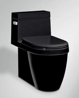 Icera C-6190.05 Muse One Piece Chair Height Elongated Toilet BLACK