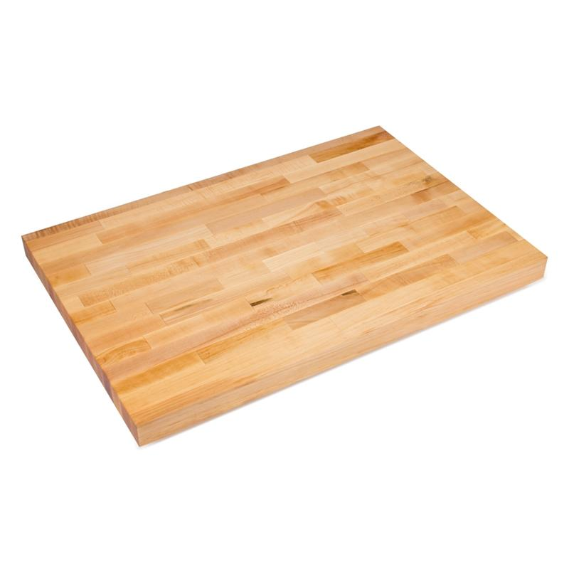 John Boos BKSC58V Hard Maple Bakers Table Top 120X24X2-1/4 Varnique