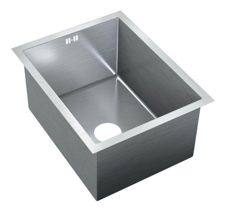 Just JZRSF-201575-R Single Bowl Undermount 16 Gauge T-304 Stainless Steel Commercial Grade Sink W/ Integral Overflow