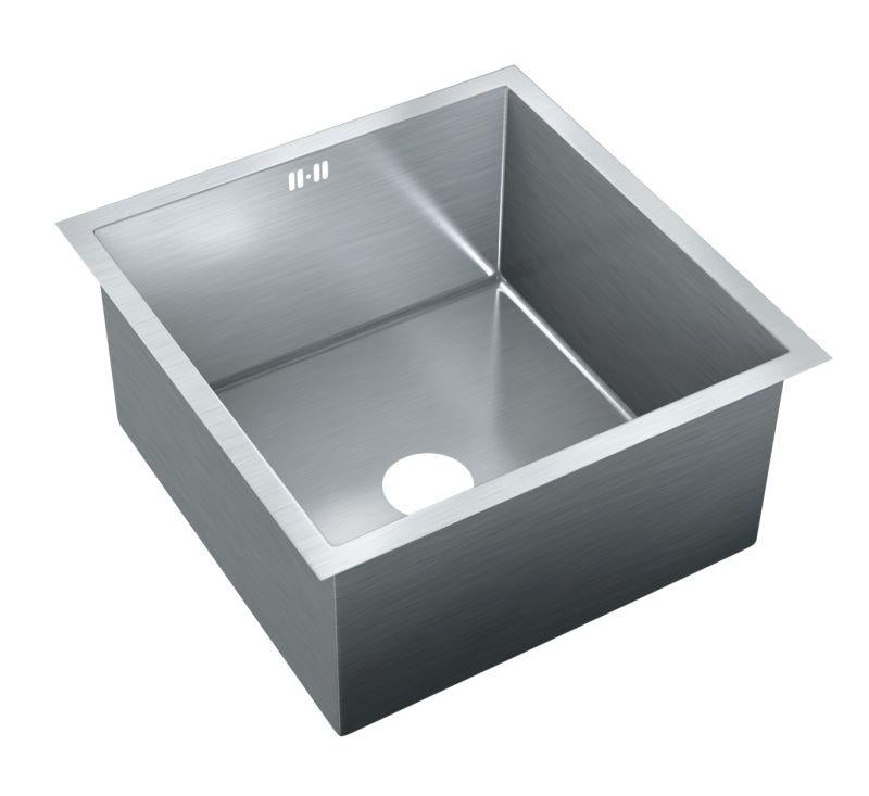 Just JZRSF-201975-R Single Bowl Undermount 16 Gauge T-304 Stainless Steel Commercial Grade Sink W/ Integral Overflow
