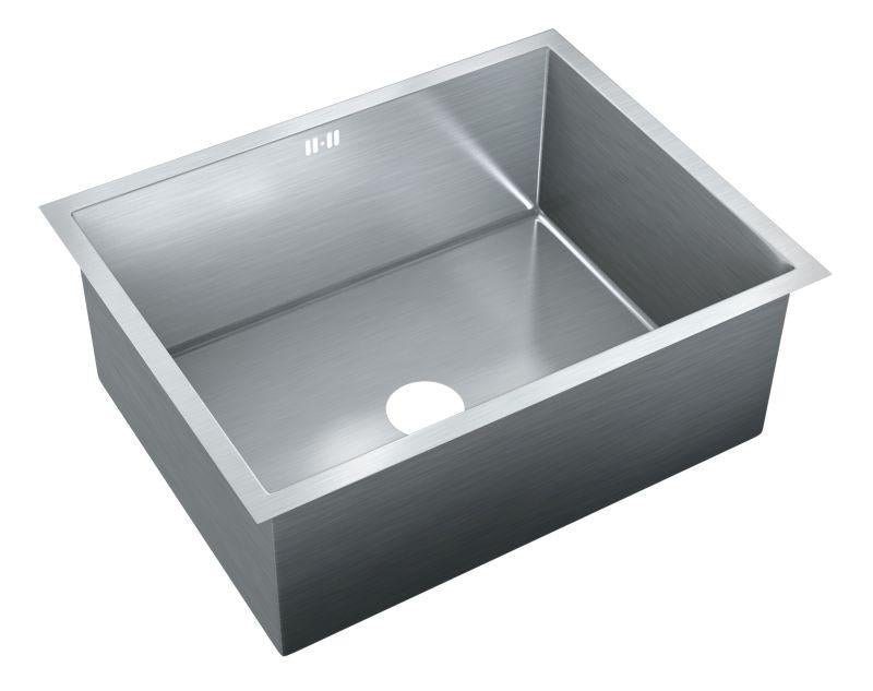 Just JZRSF-202575-R Single Bowl Undermount 16 Gauge T-304 Stainless Steel Commercial Grade Sink W/ Integral Overflow