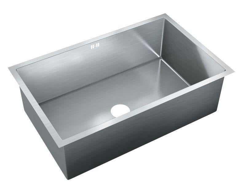 Just JZRSF-203175-R Single Bowl Undermount 16 Gauge T-304 Stainless Steel Commercial Grade Sink W/ Integral Overflow