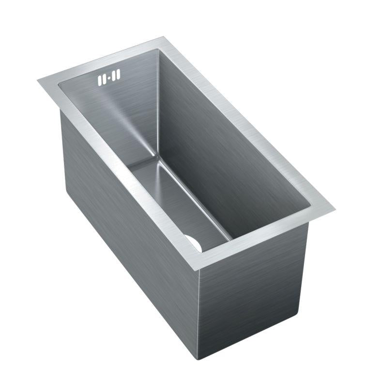 Just JZRSF-20975-R Single Bowl Undermount 16 Gauge T-304 Stainless Steel Commercial Grade Sink W/ Integral Overflow