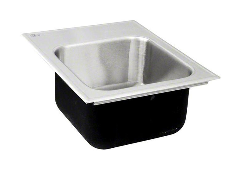Just SL-1815-A-GR-M-3 Single Bowl Drop-In 18 Gauge T-316 Stainless Steel Commercial Grade Outdoor Sink