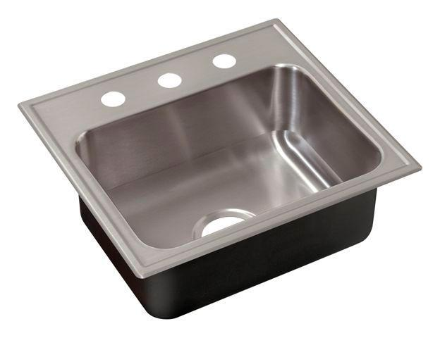 Just SL17519A2 Single Bowl Drop-In 18 Gauge w/ Faucet Ledge Stainless Steel Sink