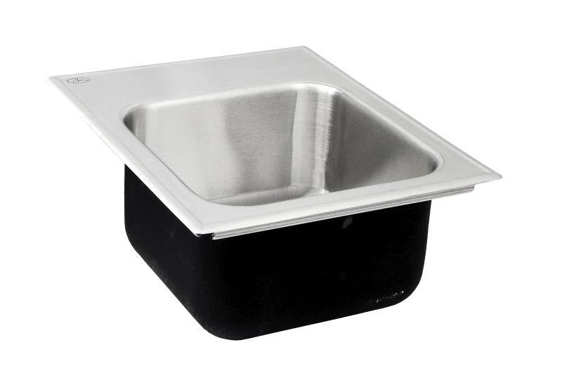 Just SL1815A1 Single Bowl Drop-In 18 Gauge w/ Faucet Ledge Stainless Steel Sink