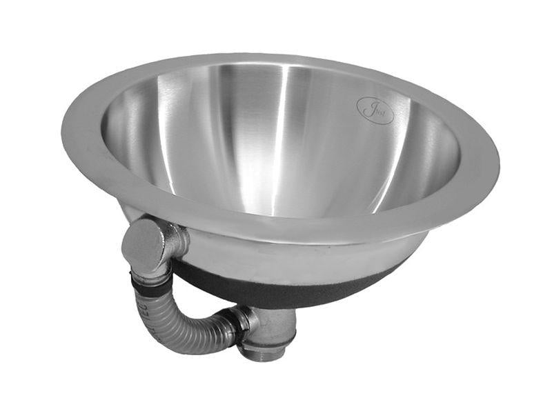 Just UCIF14 Single Bowl Lavatory Undermount Round 18 Gauge w/ Overflow Stainless Steel Sink
