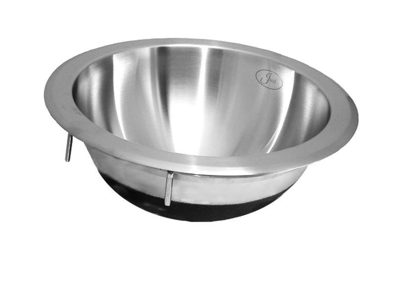 Just UCIR14 Single Bowl Lavatory Undermount Round 18 Gauge Stainless Steel Sink