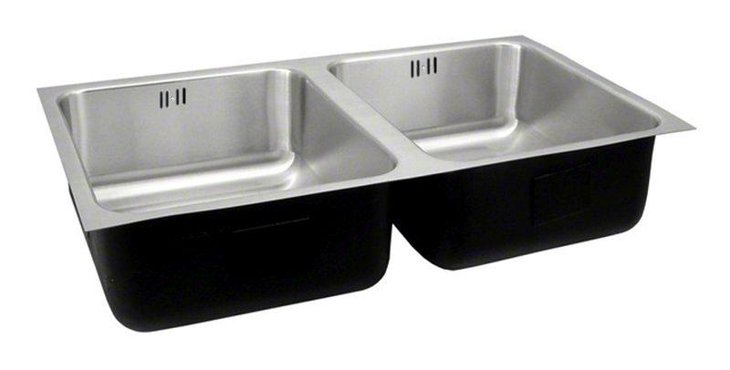 Just UDF-1842-A-R Double Bowl Undermount 18 Gauge T-304 Stainless Steel Commercial Grade Outdoor Sink W/ Integra Flow