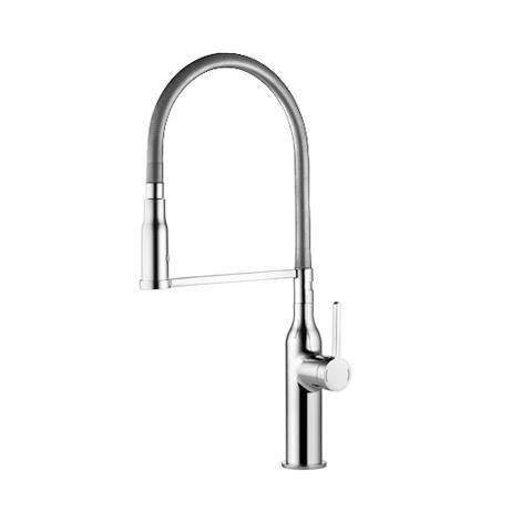 KWC 10.261.432.000 Sin Higflex Single Lever Kitchen Faucet w/ Pull-Down Spray Chrome