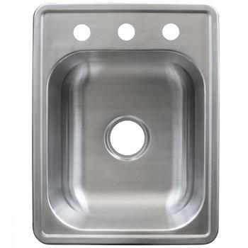 Kindred FSB1722BX Drop In Single Bowl Stainless Steel Kitchen Sink