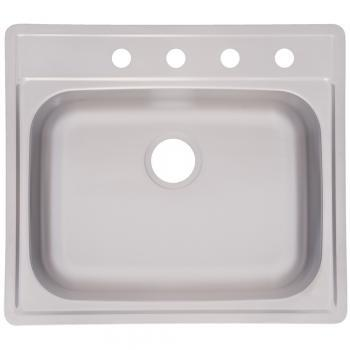 Kindred FSS804NB Drop In Large Single Bowl Stainless Steel Kitchen Sink