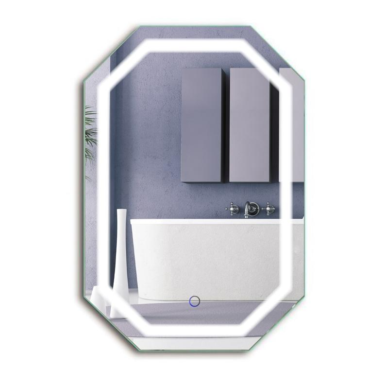 "Krugg Tudor2030 Octagon LED Bath Mirror 20""x30"" Lighted Wall Mount Vanity Mirror Includes Defogger & Dimmer Vertical or Horizontal Install"