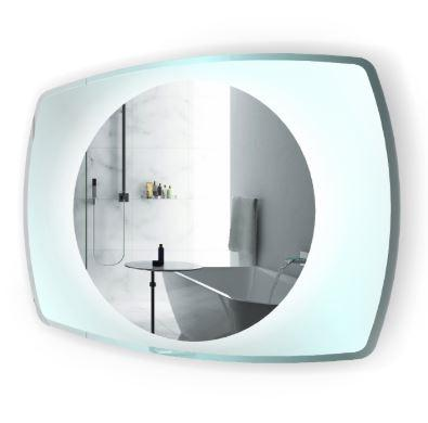 "Krugg Vetro LED Lighted 32""x24"" Bath Mirror with Glass Frame"