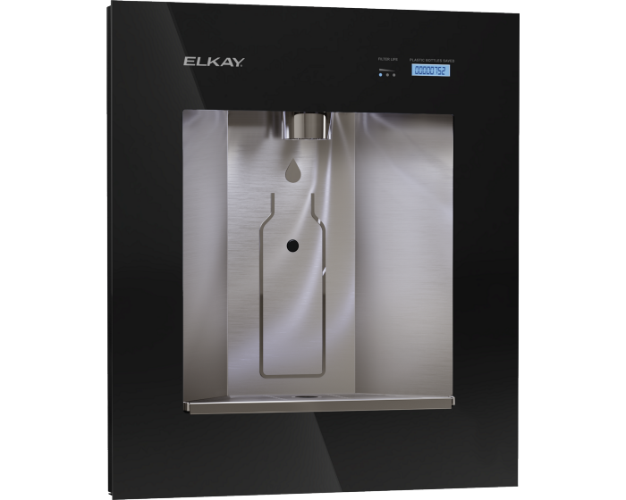 Elkay LBWDC00BKC ezH2O Liv Pro In-Wall Commercial Filtered Water Dispenser, Non-refrigerated, Midnight