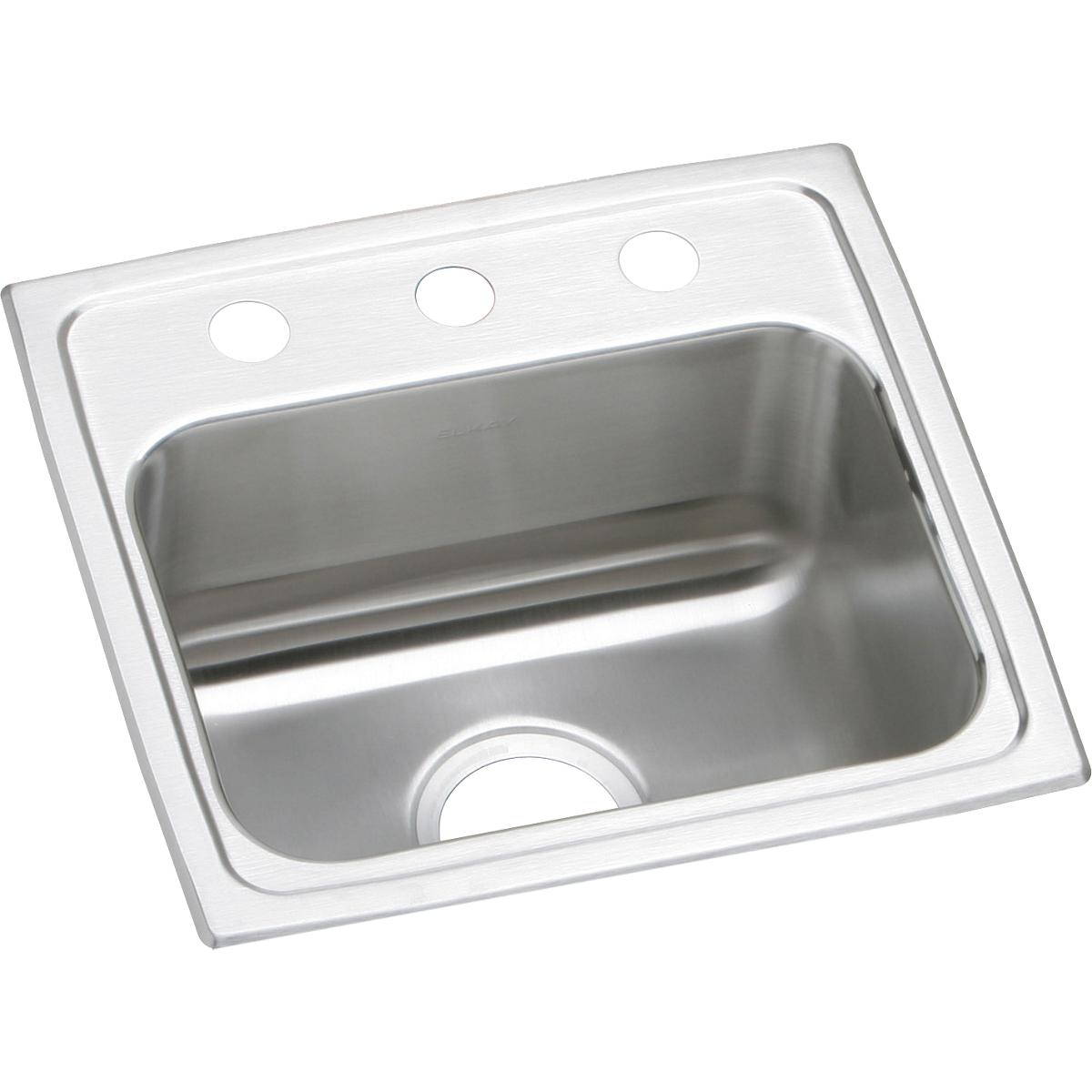 "Elkay Lustertone Classic Stainless Steel 17"" x 16"" x 7-5/8"", Single Bowl Drop-in Sink"