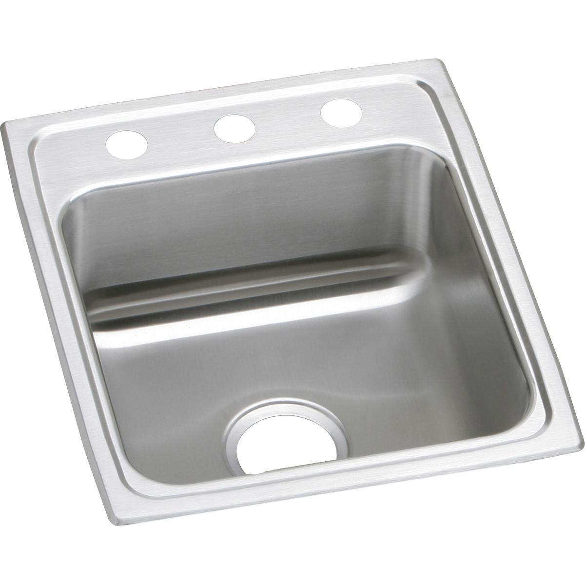 "Elkay Lustertone Classic Stainless Steel 17"" x 20"" x 7-5/8"", Single Bowl Drop-in Sink"