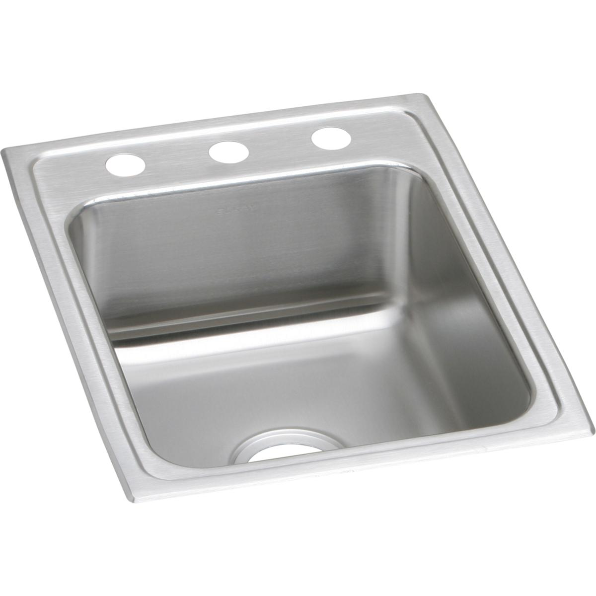 "Elkay Lustertone Classic Stainless Steel 17"" x 22"" x 7-5/8"", Single Bowl Drop-in Sink"