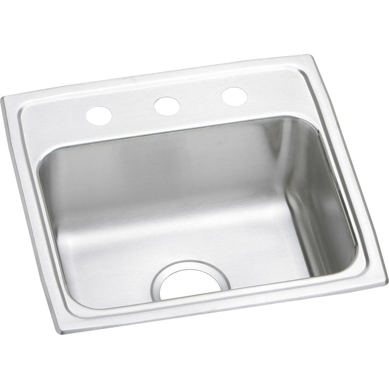 "Elkay Lustertone Classic Stainless Steel 19"" x 18"" x 7-5/8"", Single Bowl Drop-in Sink"