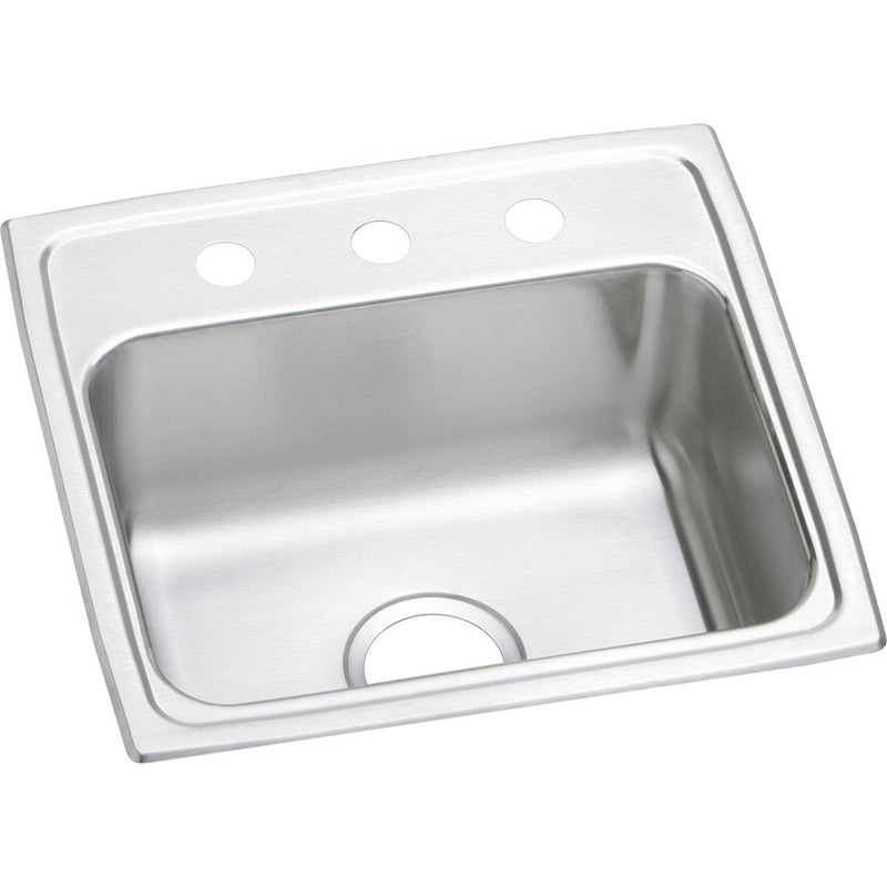 "Elkay Lustertone Classic Stainless Steel 19-1/2"" x 19"" x 7-1/2"", Single Bowl Drop-in Sink"