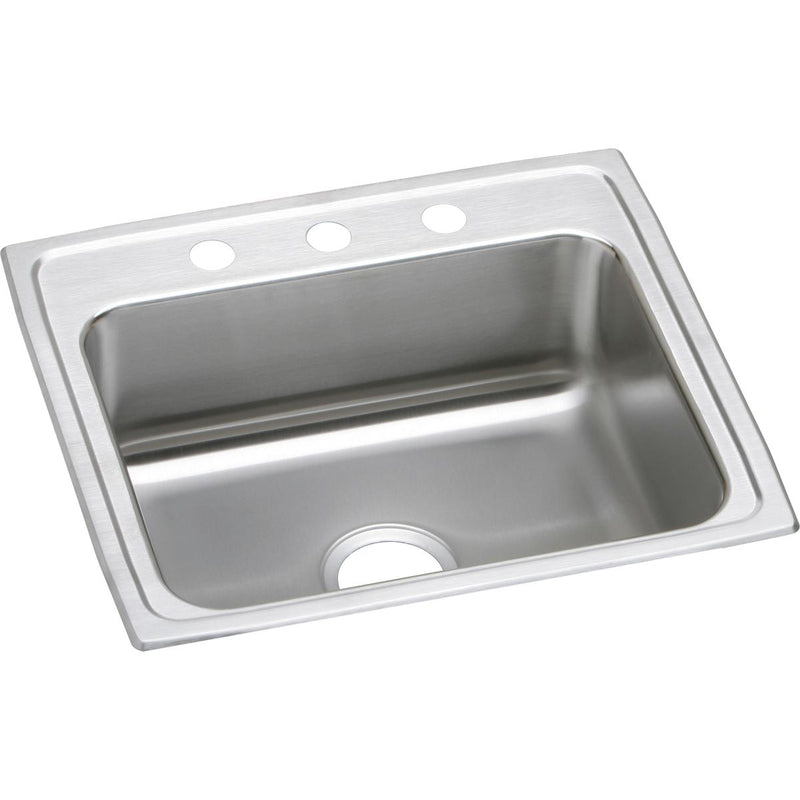 "Elkay Lustertone Classic Stainless Steel 22"" x 19-1/2"" x 7-5/8"", Single Bowl Drop-in Sink"