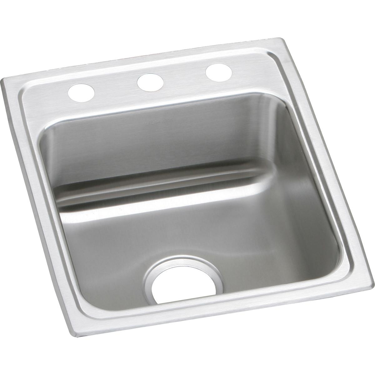 "Elkay Lustertone Classic Stainless Steel 17"" x 20"" x 6-1/2"", Single Bowl Drop-in ADA Sink"