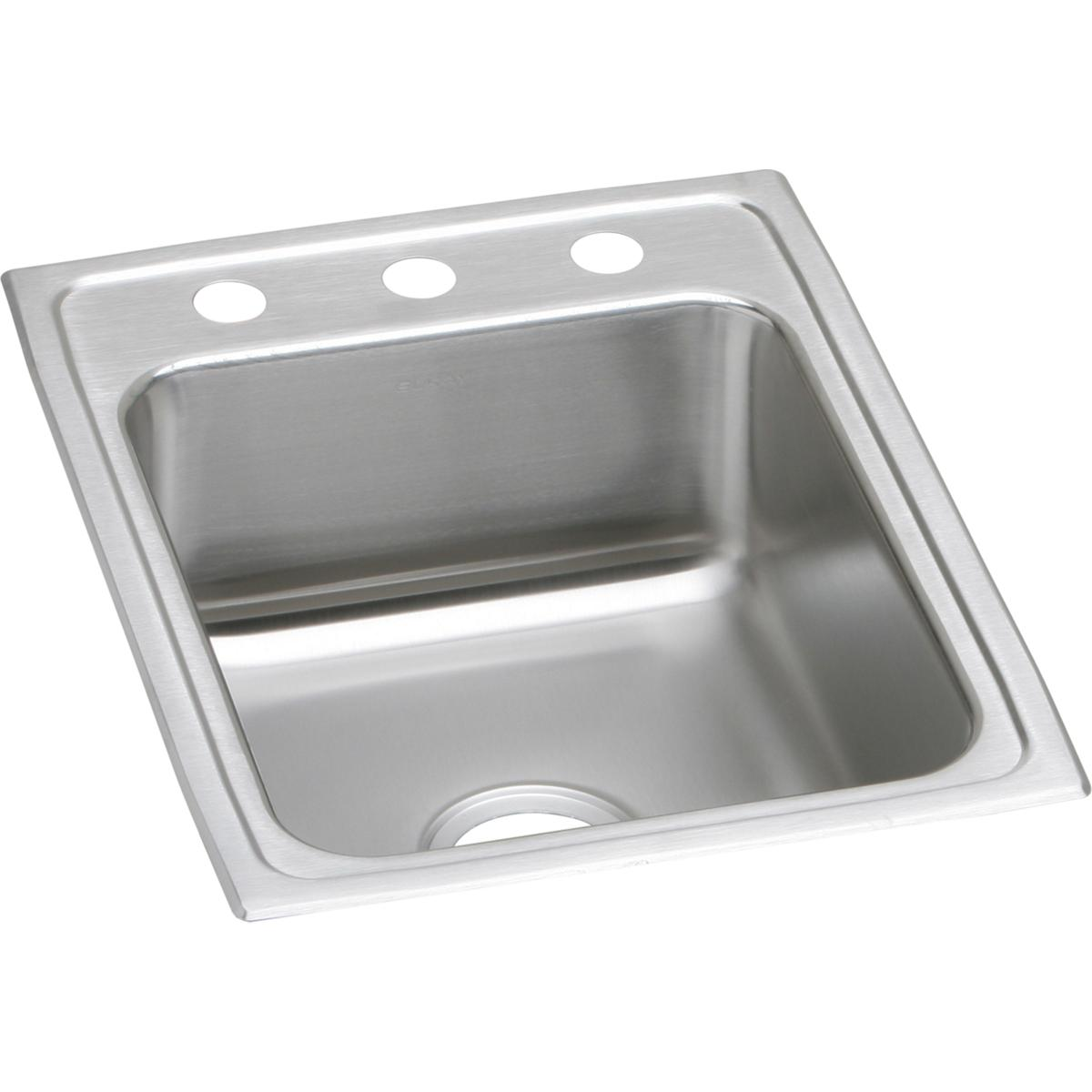 "Elkay Lustertone Classic Stainless Steel 17"" x 22"" x 6"", Single Bowl Drop-in ADA Sink"