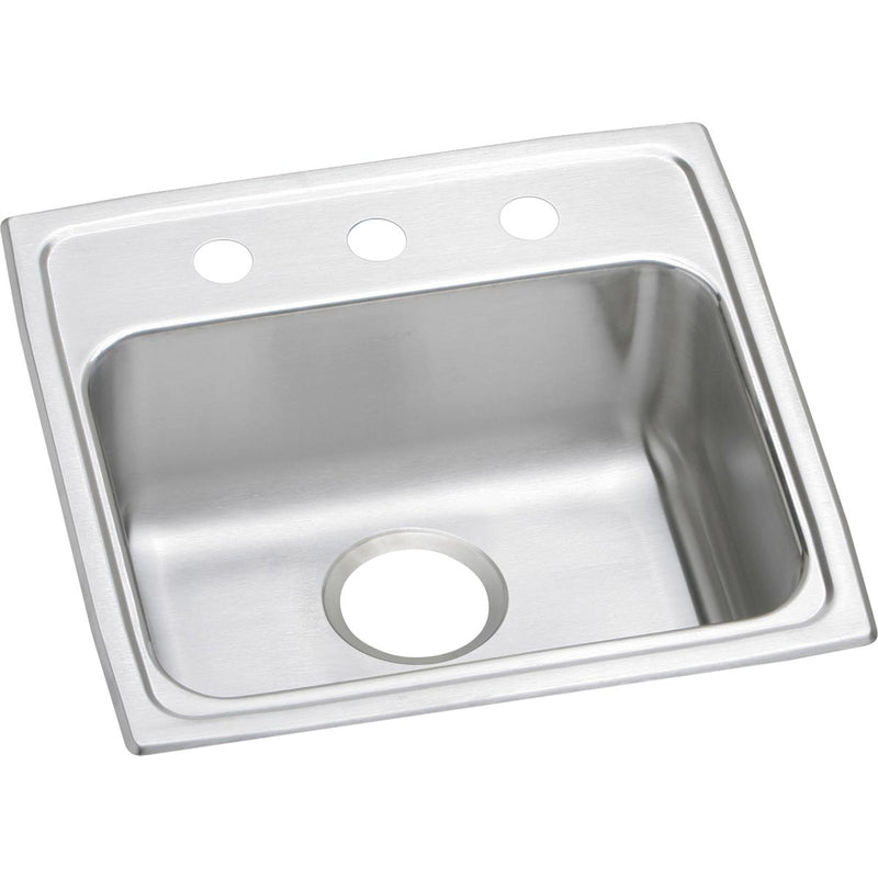 "Elkay Lustertone Classic Stainless Steel 19-1/2"" x 19"" x 5-1/2"", Single Bowl Drop-in ADA Sink"