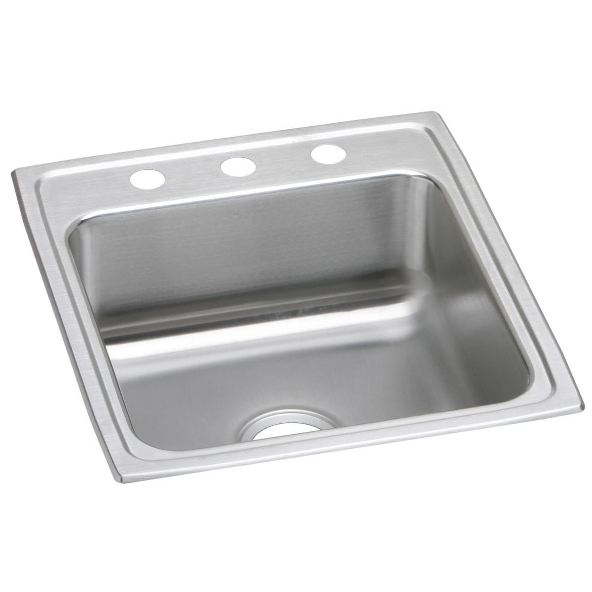 "Elkay Lustertone Classic Stainless Steel 19-1/2"" x 22"" x 6"", Single Bowl Drop-in ADA Sink"