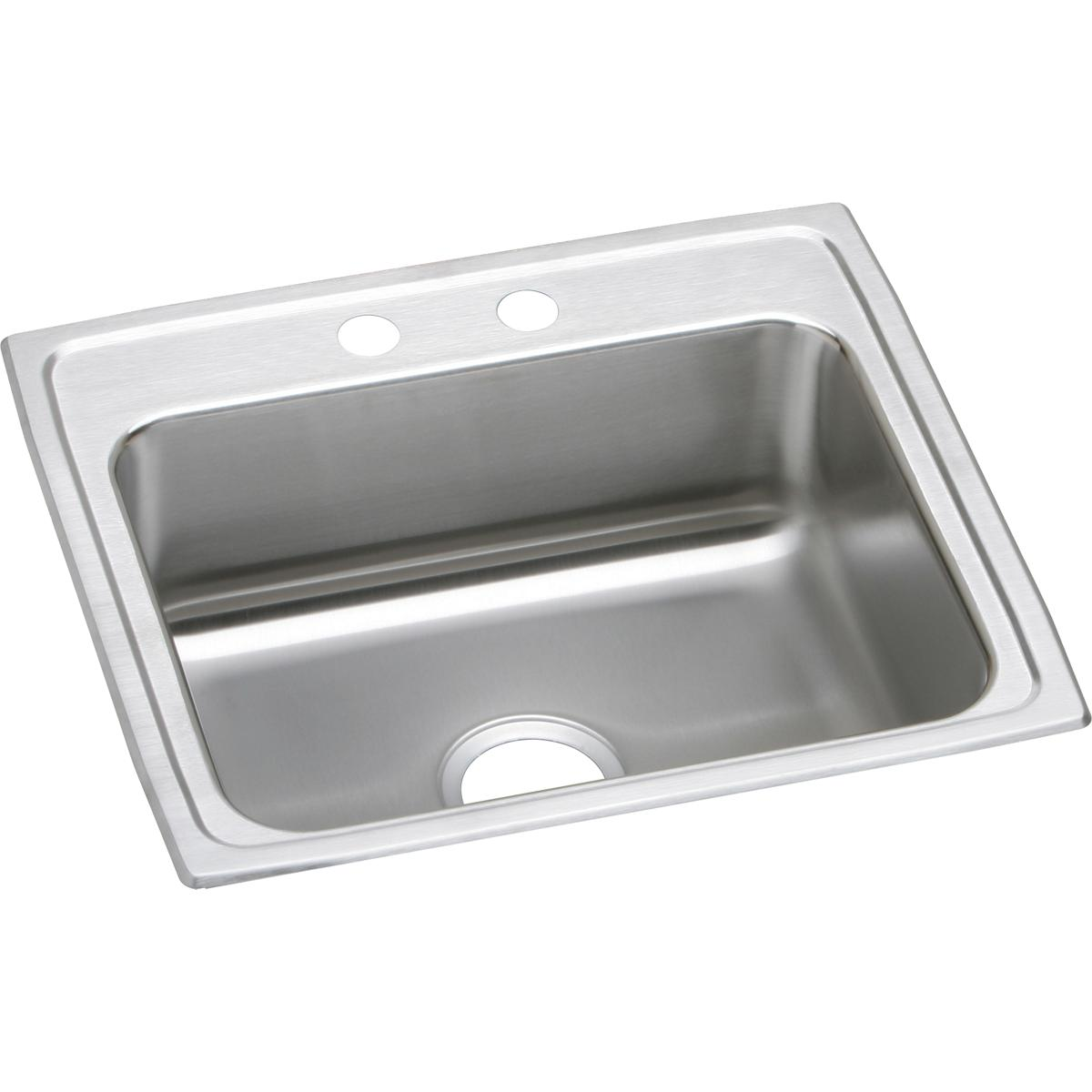 "Elkay Lustertone Classic Stainless Steel 22"" x 19-1/2"" x 5"", Single Bowl Drop-in ADA Sink"