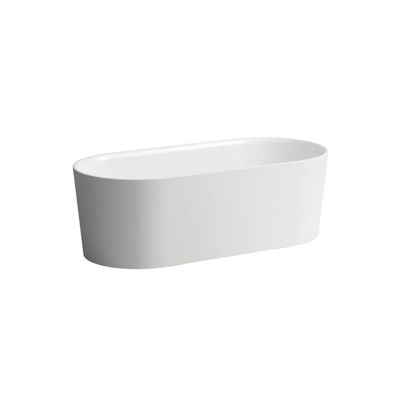 Laufen 2.3028.2.000.000.U Val Freestanding Solid Surface Tub White