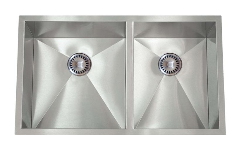 Lenova PC-SS-0Ri-D1 PermaClean Undermount Double Bowl Kitchen Sink Stainless Steel Sink