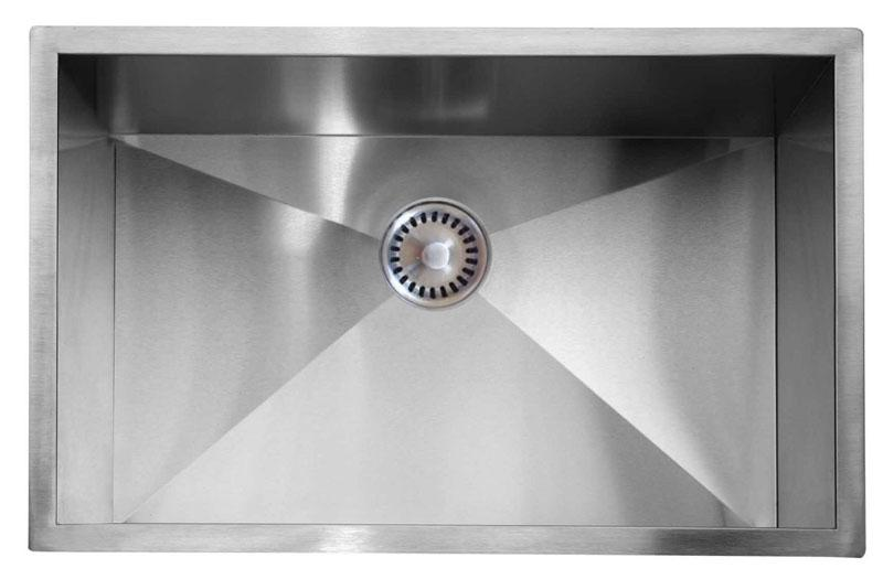 Lenova PC-SS-0Ri-S27 PermaClean Undermount Single Bowl Kitchen Sink Stainless Steel Sink