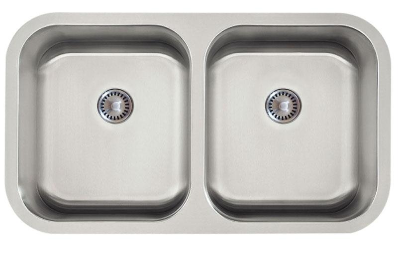 Lenova PC-SS-CL-D1-16 PermaClean Undermount Double Bowl Kitchen Sink Stainless Steel Sink