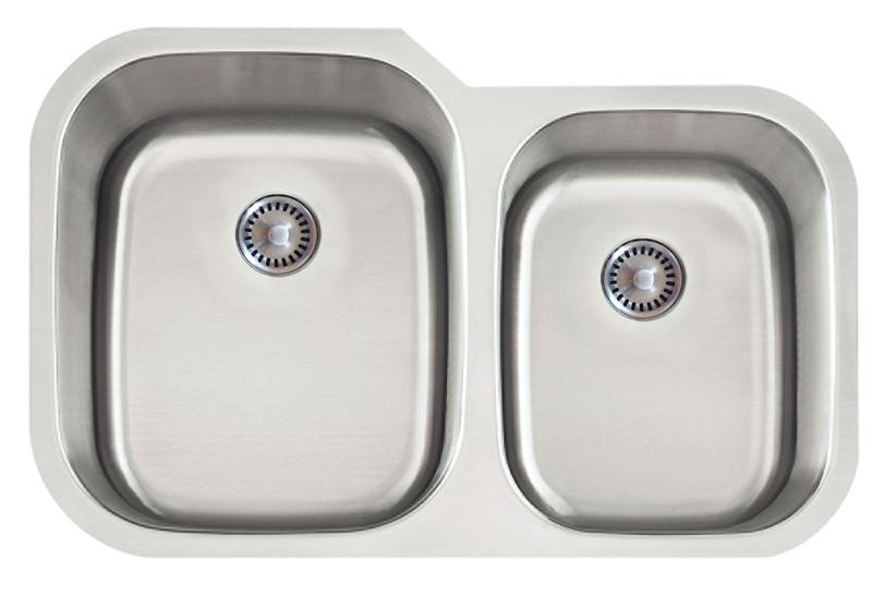 Lenova PC-SS-CL-D2L-16 PermaClean Undermount Double Bowl Kitchen Sink Stainless Steel Sink