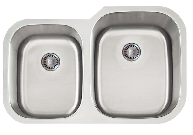 Lenova PC-SS-CL-D2R-16 PermaClean Undermount Double Bowl Kitchen Sink Stainless Steel Sink